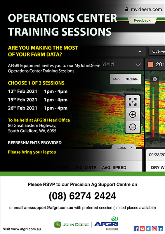 John Deere Operations Center Training Sessions - South Guildford, WA